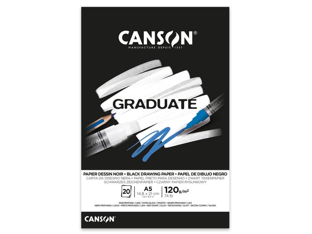 skicak canson graduate black 120g m2 20 archu a5