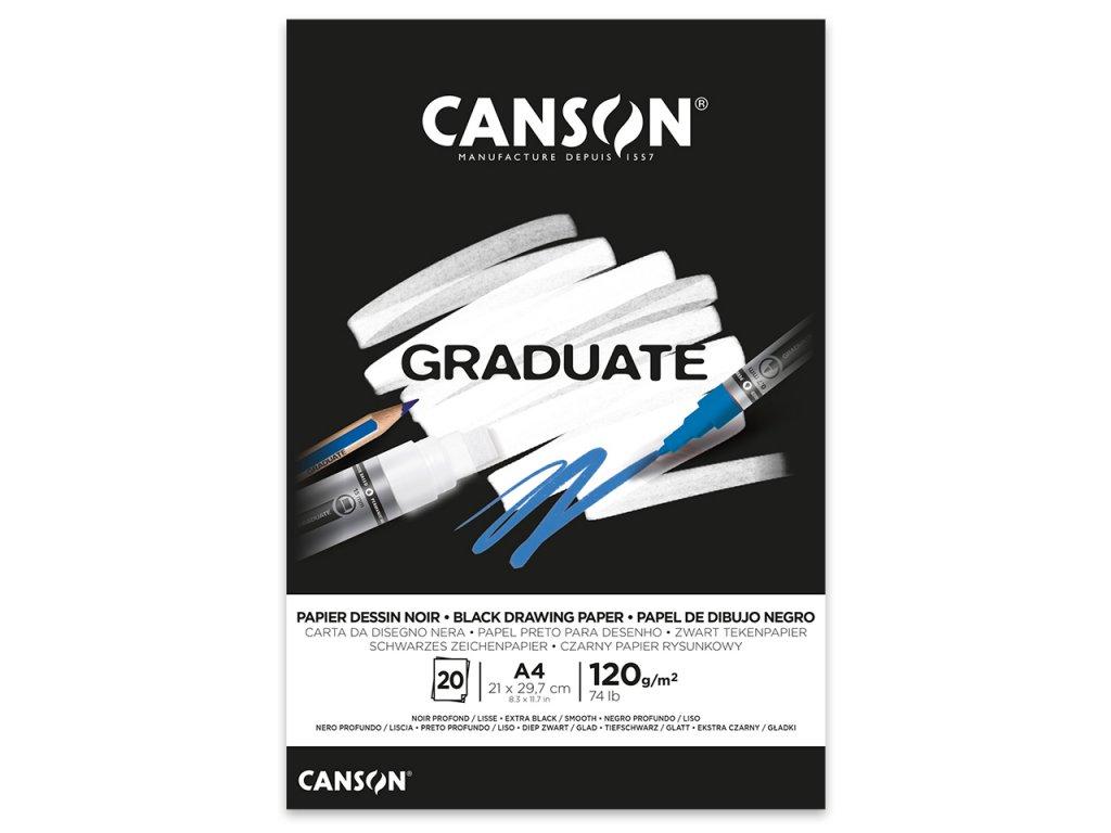 skicak canson graduate black 120g m2 20 archu a4
