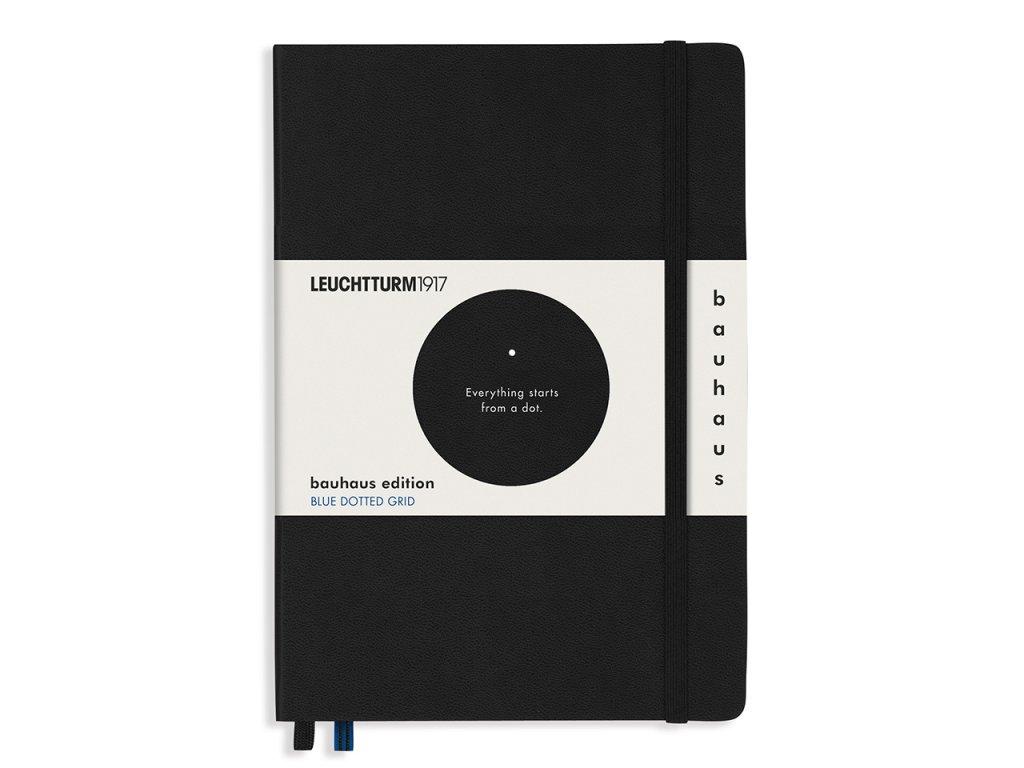 Tečkovaný zápisník Leuchtturm1917 Bauhaus Edition Medium A5 - Black