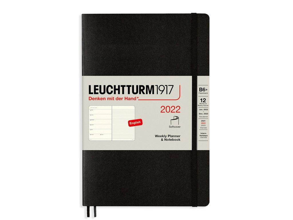 tydenni diar 2022 zapisnik leuchtturm1917 b6 softcover black