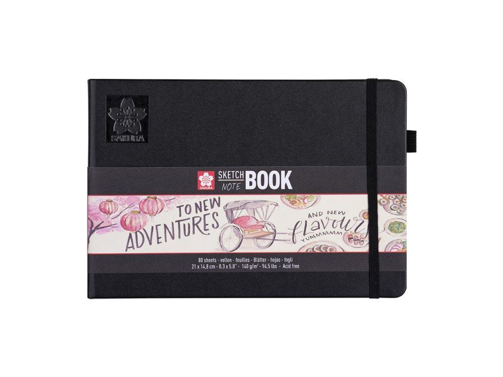 skicak sakura sketch notebook creme landscape a5 80 stran