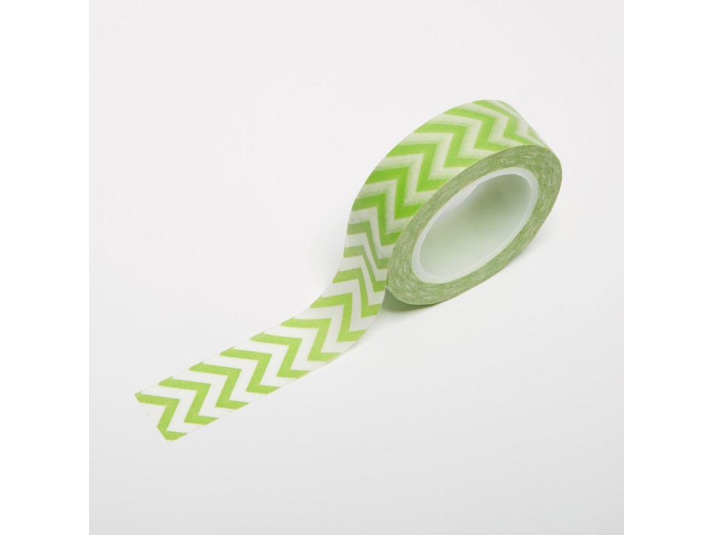 Washi páska - Světle zelený chevron