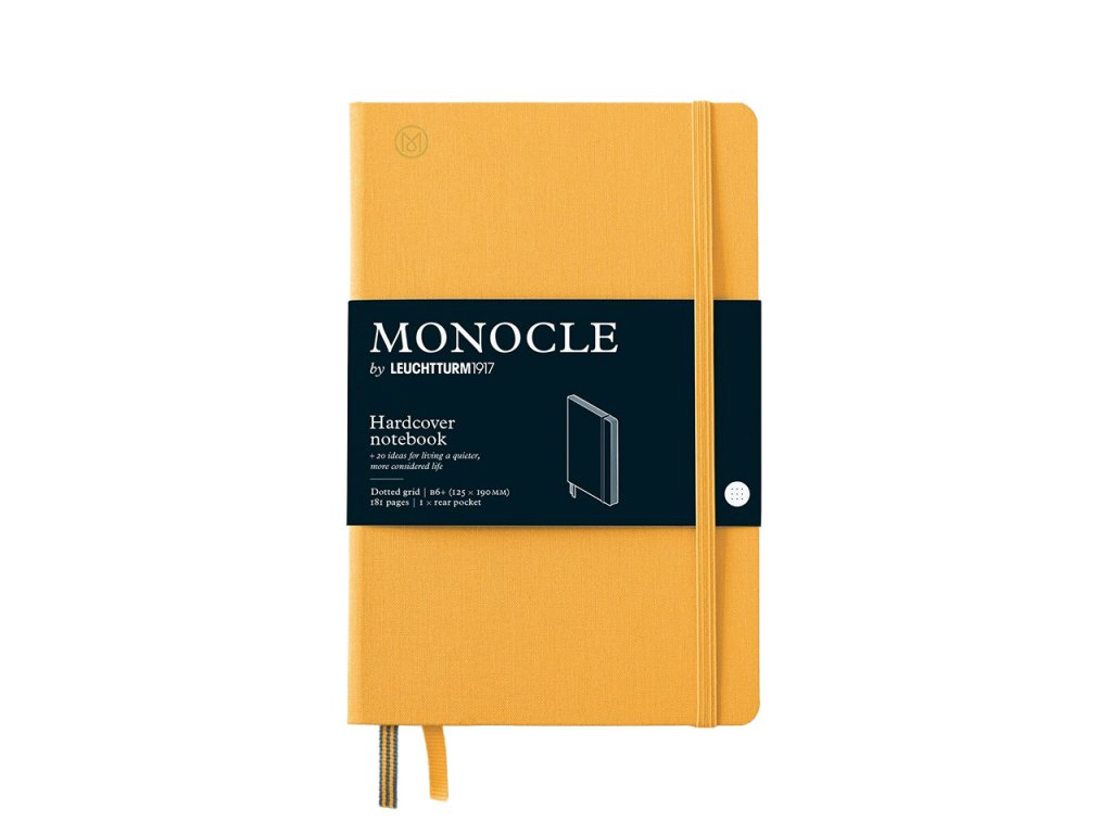 teckovany zapisnik leuchtturm1917 monocle b6 yellow