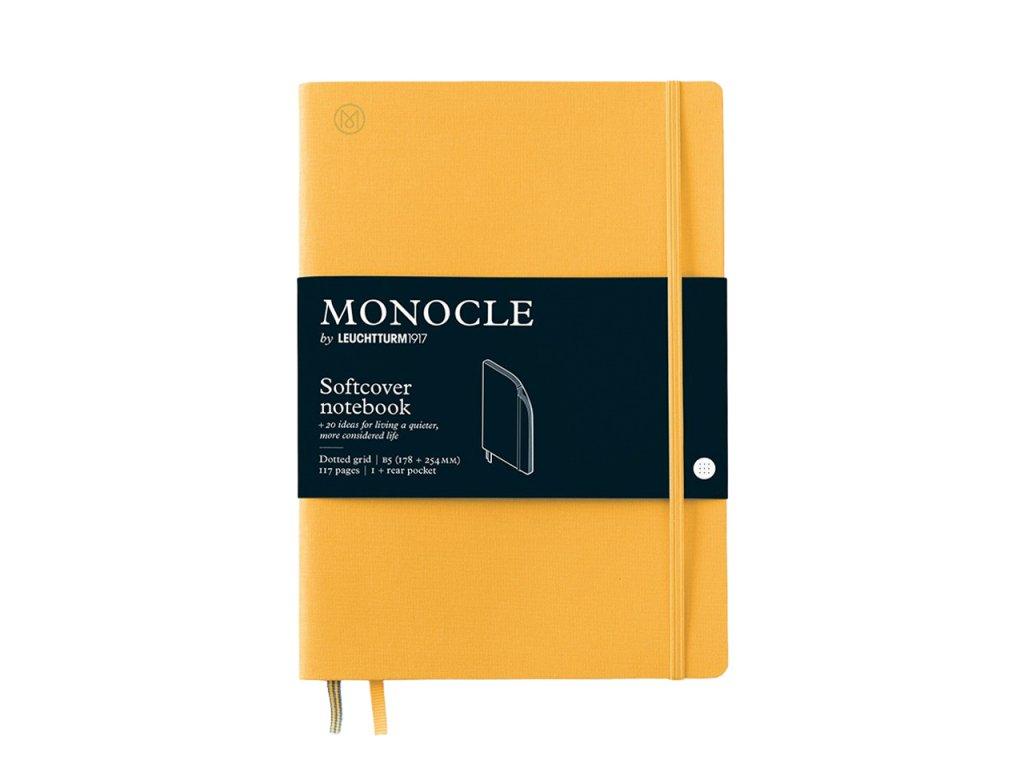 teckovany zapisnik leuchtturm1917 monocle b5 softcover yellow