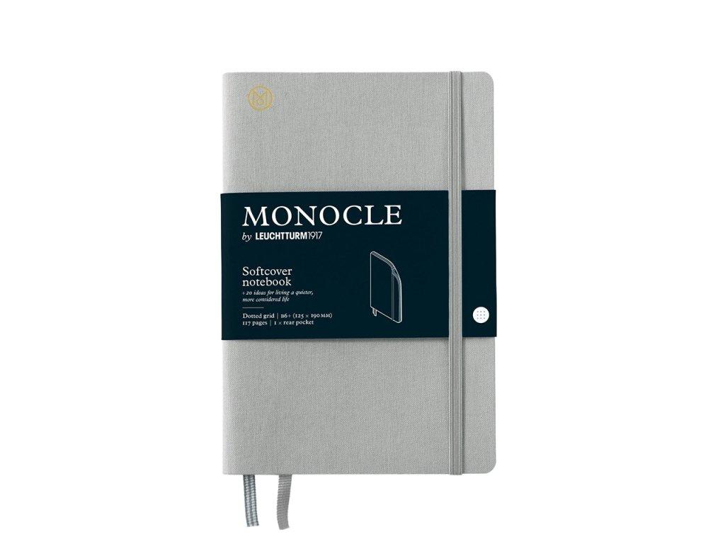 teckovany zapisnik leuchtturm1917 monocle b6 softcover light grey