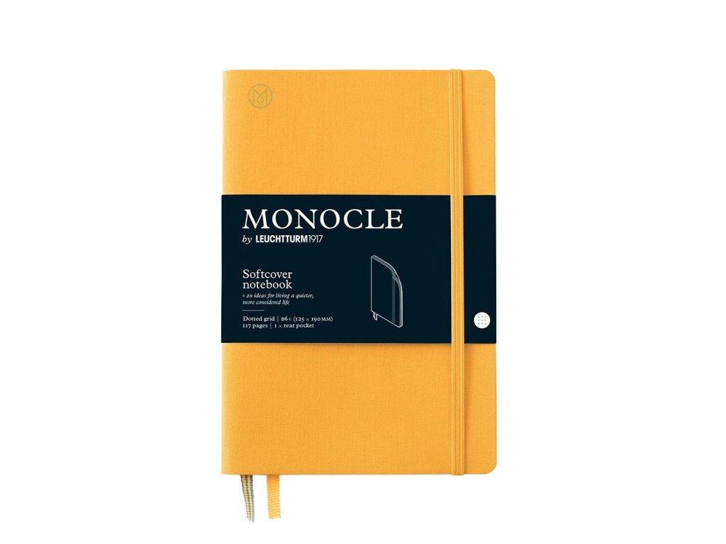 teckovany zapisnik leuchtturm1917 monocle b6 softcover yellow