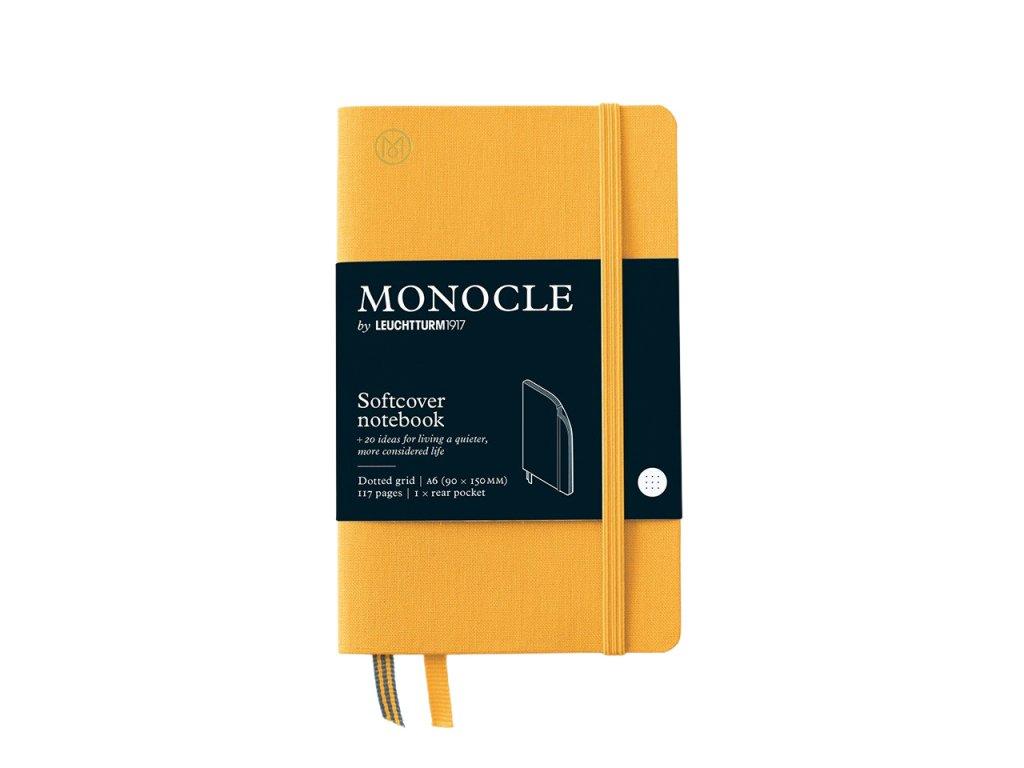 teckovany zapisnik leuchtturm1917 monocle pocket a6 softcover yellow