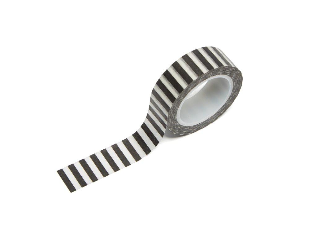 Washi páska - Černé proužky