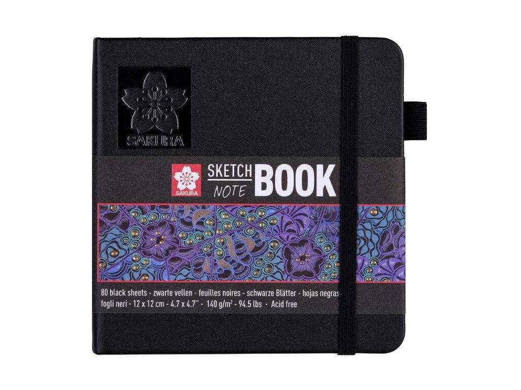 skicak sakura sketch notebook black 12 x 12 cm 80 stran 1