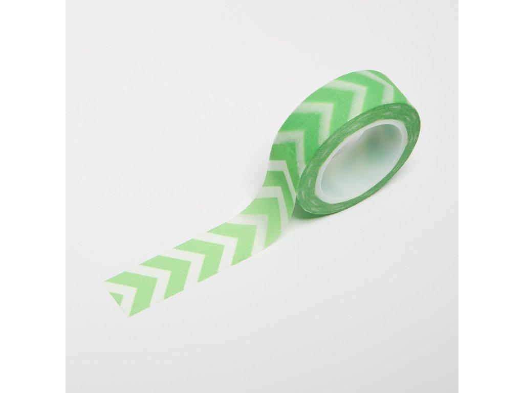 Washi páska - Neonově zelené šipky