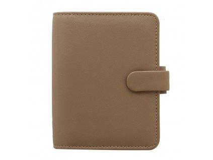 028760 Saffiano Pocket Organiser Fawn2