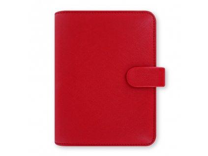 022471 Saffiano Pocket Poppy
