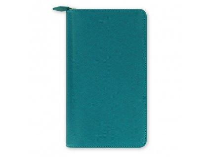 022536 Saffiano Compact Zip Aquamarine