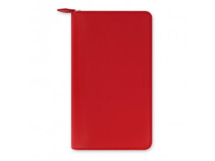 022534 Saffiano Compact Zip Poppy