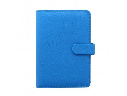 028766 Saffiano Fluoro Personal Organiser Blue2