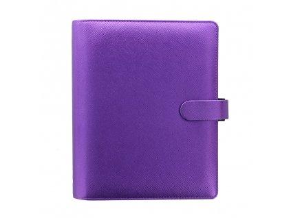 028768 Saffiano Metallic A5 Organiser Violet2