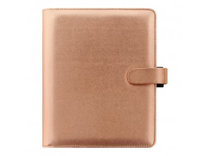 022572 Saffiano A5 Rose Gold Front