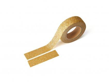 1587 1 washi paska trpytiva zlata
