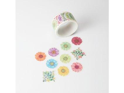 Washi páska - Kytičky