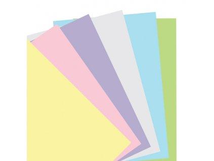 Pastelové čisté papíry - náplň do diářů Filofax