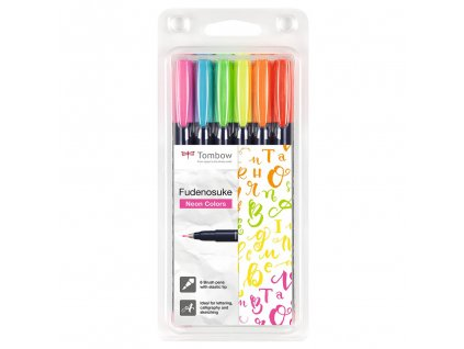 Tombow Fudenosuke Neon Paperlove