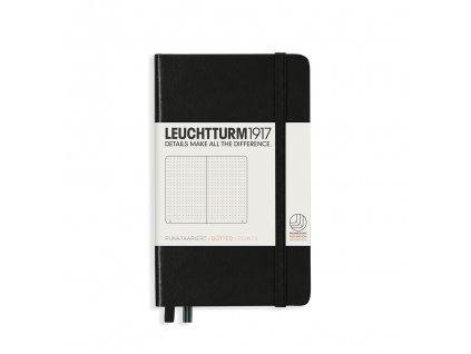 Tečkovaný zápisník Leuchtturm1917 Pocket Black
