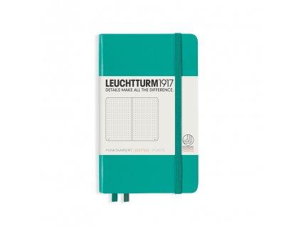 Tečkovaný zápisník Leuchtturm1917 Pocket Emerald