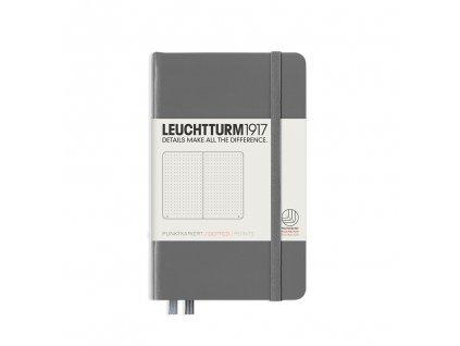 Tečkovaný zápisník Leuchtturm1917 Pocket Anthracite