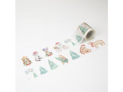 Washi páska - Zimní zvířátka