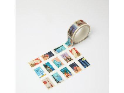 Washi páska - Trhací známky