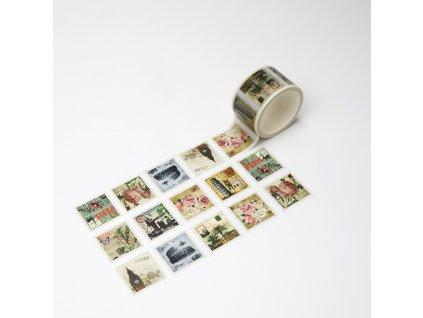 Washi páska - Trhací vintage známky