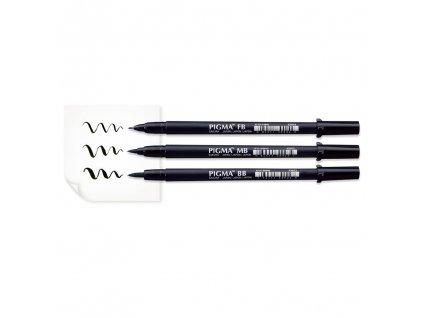 Sakura Pigma Brush Pen - Různé velikosti