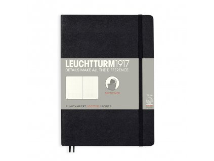 Teckovany zapisnik Leuchtturm1917 Medium Softcover Black