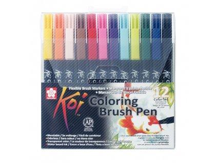sakura koi coloring brush pen sada 12ks paperlove