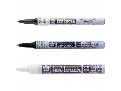 sakura pen touch bily ruzne velikosti