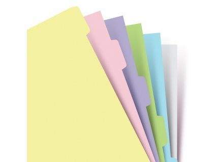 Filofax pastelové rozdělovače do diáře - 6ks