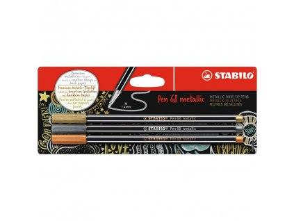 stabilo pen 68 metallic sada 3ks