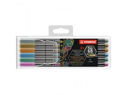 stabilo pen 68 metallic sada 6ks
