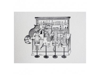 pohlednice ligarti zvireci bar