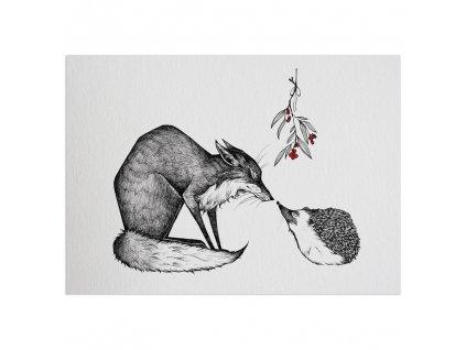 pohlednice ligarti lisak a jezek