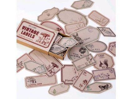 samolepky vintage 4 paperlove