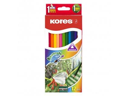 akvarelove pastelky kores akuarelle 12 barev