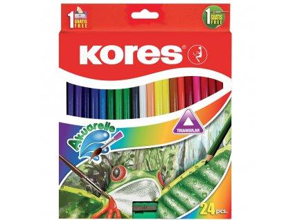 akvarelove pastelky kores akuarelle 24 barev