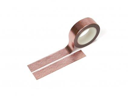 3050 washi paska metalicka ruzovo zlata paperlove