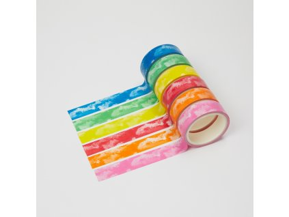 sada 6 washi pasek akvarelove barevne
