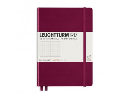 teckovany zapisnik leuchtturm1917 medium a5 port red