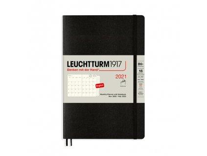 16 mesicni diar teckovany zapisnik leuchtturm1917 b6 softcover black