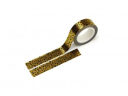Washi páska - Leopard (zlatá fólie)