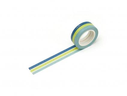 3539 sada 3 washi pasek modro zelena