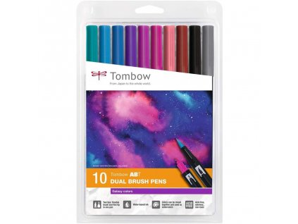tombow dual brush pen sada 10ks galaxy colors 1